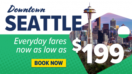 Everyday low fares between Vancouver & Seattle