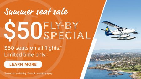 Summer Seat Sale: $50 Fly-By Special