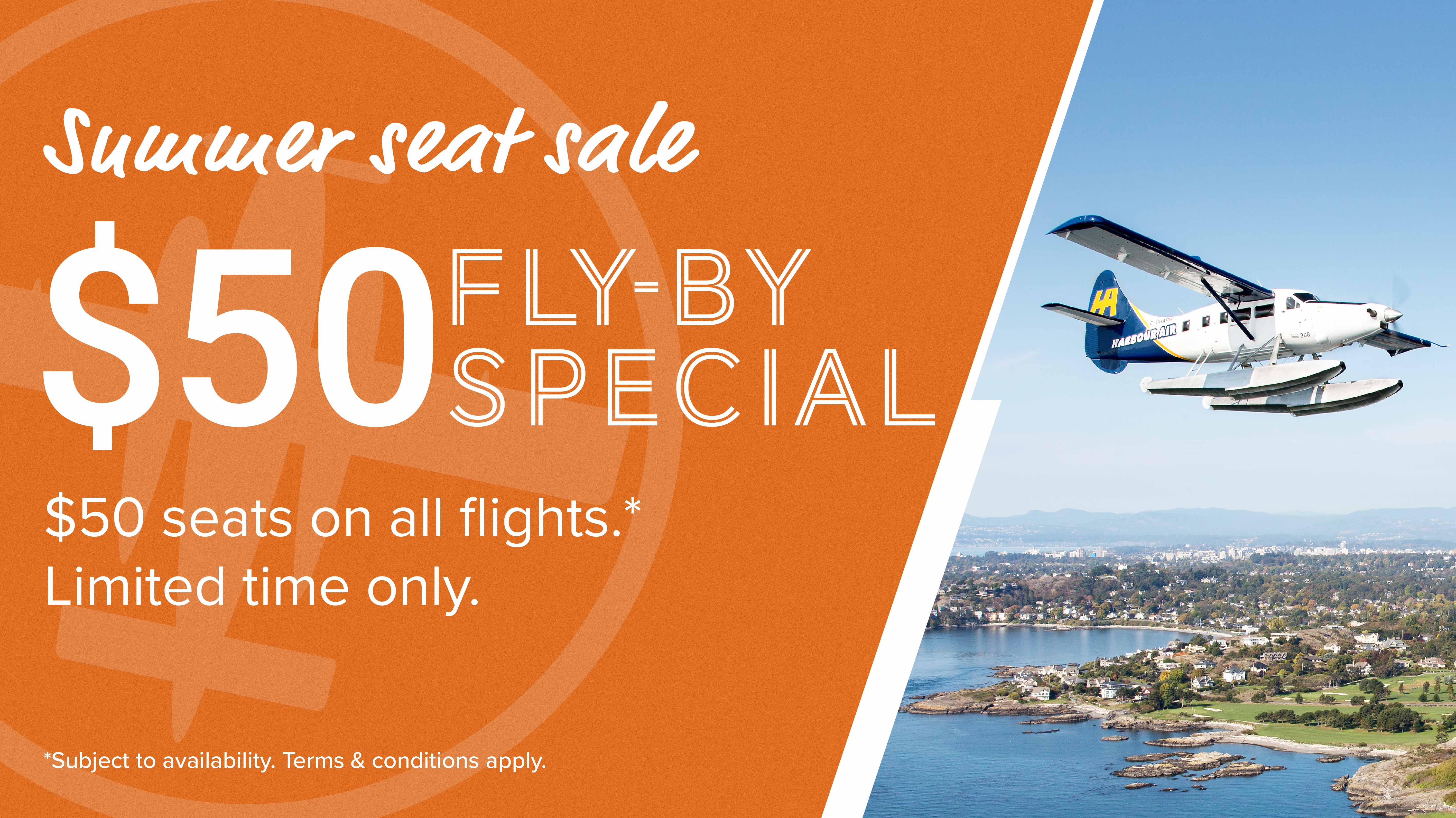 Summer Seat Sale: $50 Fly-By Special – Harbour Air Seaplanes
